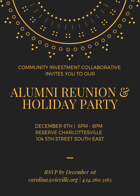 Alumni Reunion Holiday Party Community Investment Collaborative
